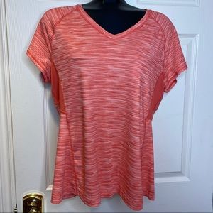 Hyba Activewear Athletic Striped Top Tshirt EUC